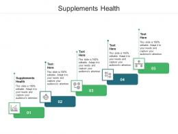 Supplements Health Ppt Powerpoint Presentation Styles Graphics Cpb
