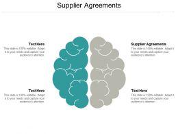 Supplier Agreements Ppt Powerpoint Presentation Model Graphics Tutorials Cpb