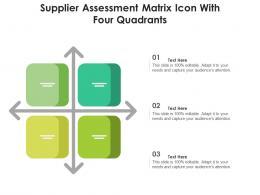 Supplier Assessment Matrix Icon With Four Quadrants