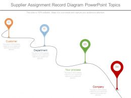 Supplier Assignment Record Diagram Powerpoint Topics