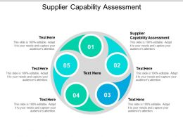 Supplier Capability Assessment Ppt Powerpoint Presentation Model Infographic Template Cpb