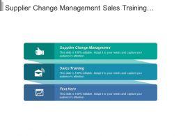 Supplier Change Management Sales Training Human Resource Management Cpb