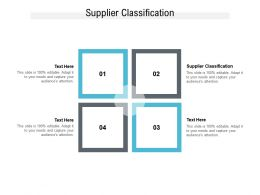 Supplier Classification Ppt Powerpoint Presentation Slides Gridlines Cpb