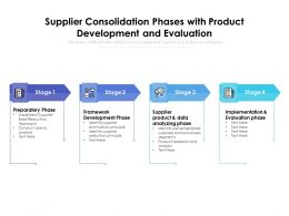 Supplier Consolidation Phases With Product Development And Evaluation