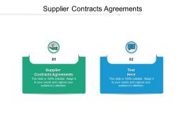 Supplier Contracts Agreements Ppt Powerpoint Presentation Icon Graphics Download Cpb