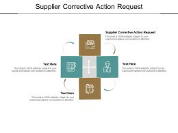 Supplier Corrective Action Request Ppt Powerpoint Presentation Background Designs Cpb