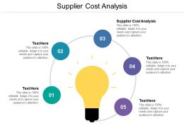 Supplier Cost Analysis Ppt Powerpoint Presentation Pictures Layout Cpb