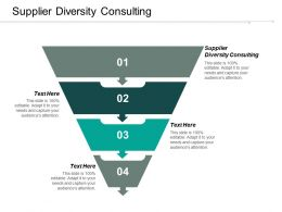 Supplier Diversity Consulting Ppt Powerpoint Presentation Icon Clipart Images Cpb