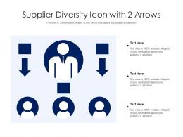 Supplier Diversity Icon With 2 Arrows
