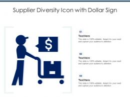Supplier Diversity Icon With Dollar Sign