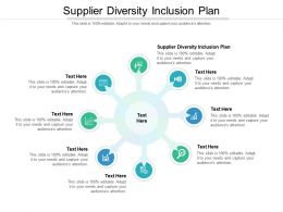 Supplier Diversity Inclusion Plan Ppt Powerpoint Presentation Show File Formats Cpb