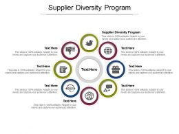 Supplier Diversity Program Ppt Powerpoint Presentation Inspiration Slide Portrait Cpb