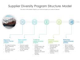 Supplier Diversity Program Structure Model