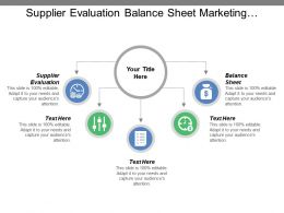 Supplier Evaluation Balance Sheet Marketing Strategies Businesses Opportunities