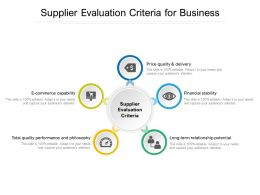 Supplier Evaluation Criteria For Business