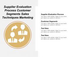 Supplier Evaluation Process Customer Segments Sales Techniques Marketing