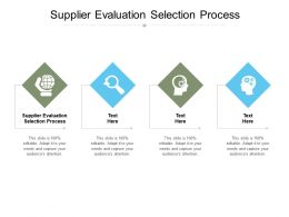 Supplier Evaluation Selection Process Ppt Powerpoint Presentation Template Cpb