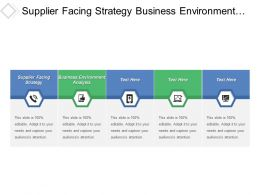 Supplier Facing Strategy Business Environment Analysis Draft Strategy Plan