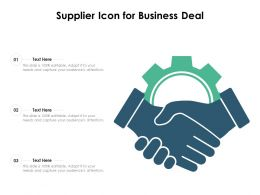 Supplier Icon For Business Deal