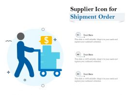 Supplier Icon For Shipment Order