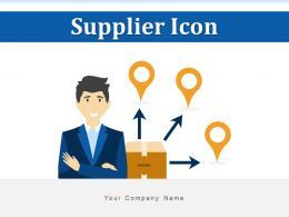 Supplier Icon Procurement Management Process Evaluation Manufacturer Transaction