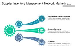 Supplier Inventory Management Network Marketing Supply Chain Risks Cpb