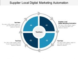 Supplier Local Digital Marketing Automation Ppt Powerpoint Presentation Outline Structure Cpb