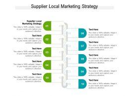 Supplier Local Marketing Strategy Ppt Powerpoint Presentation Portfolio Background Designs Cpb