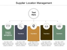 Supplier Location Management Ppt Powerpoint Presentation Ideas Design Inspiration Cpb