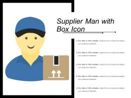 Supplier Man With Box Icon