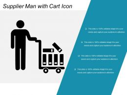 Supplier Man With Cart Icon