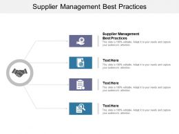 Supplier Management Best Practices Ppt Powerpoint Presentation Ideas Portrait Cpb
