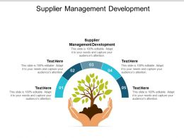 Supplier Management Development Ppt Powerpoint Presentation Show Aids Cpb