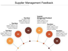 Supplier Management Feedback Ppt Powerpoint Presentation Gallery Brochure Cpb