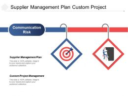 Supplier Management Plan Custom Project Management Communication Risk Cpb