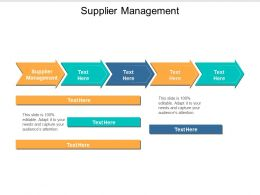 Supplier Management Ppt Powerpoint Presentation File Graphic Images Cpb