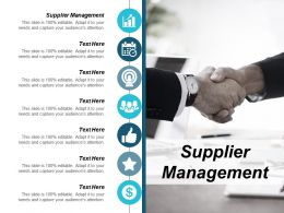 Supplier Management Ppt Powerpoint Presentation Icon Good Cpb