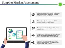 Supplier Market Assessment PPT Design Templates