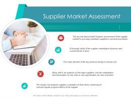 Supplier Market Assessment Supply Chain Management Architecture Ppt Graphics
