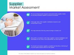 Supplier Market Assessment Supply Chain Management Solutions Ppt Professional