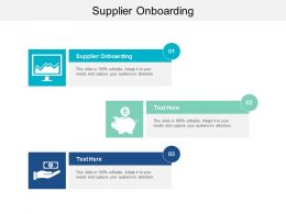 Supplier Onboarding Ppt Powerpoint Presentation Infographics Elements Cpb