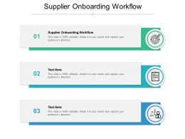 Supplier Onboarding Workflow Ppt Powerpoint Presentation Professional Display Cpb