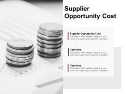 Supplier Opportunity Cost Ppt Powerpoint Presentation Layouts Portrait Cpb
