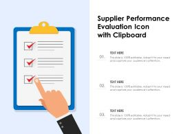 Supplier Performance Evaluation Icon With Clipboard