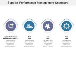 Supplier Performance Management Scorecard Ppt Powerpoint Presentation Infographic Template Slides Cpb