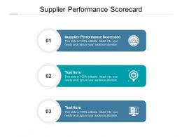 Supplier Performance Scorecard Ppt Powerpoint Presentation Summary Outfit Cpb