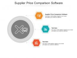 Supplier Price Comparison Software Ppt Powerpoint Presentation Infographics Files Cpb
