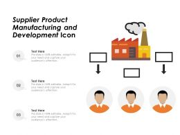 Supplier Product Manufacturing And Development Icon