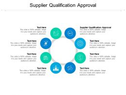 Supplier Qualification Approval Ppt Powerpoint Presentation Infographic Template Visuals Cpb