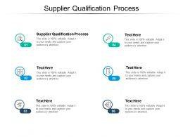 Supplier Qualification Process Ppt Powerpoint Presentation Gallery Example Topics Cpb